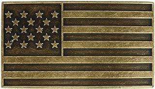 Toneka American Flag Bronze Belt Buckle