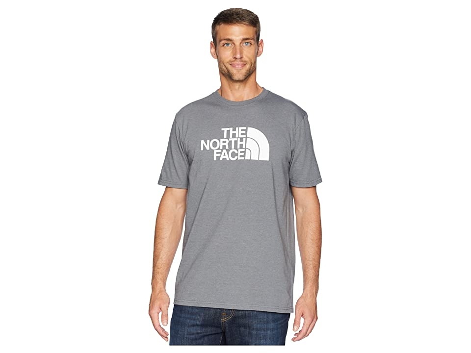 The North Face Short Sleeve 1/2 Dome Tee (TNF Medium Grey Heather/TNF White 1) Men