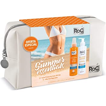 Roc Soleil - Pack Ahorro con Neceser de Regalo (Incluye Protector Solar SPF50 200 ml + Aftersun 200 ml): Amazon.es: Belleza