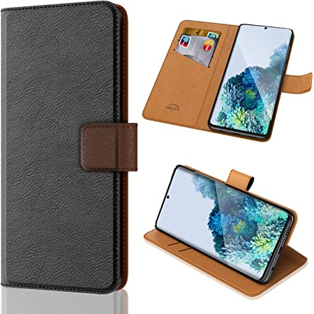 """AMZLIFE Case for Samsung Galaxy S20 5G 6.2"""", [Kickstand Feature] Luxury PU Leather Wallet Case Flip Folio Cover with [Card Slots] Pockets for Galaxy S20 5G 6.2 inch Black"""