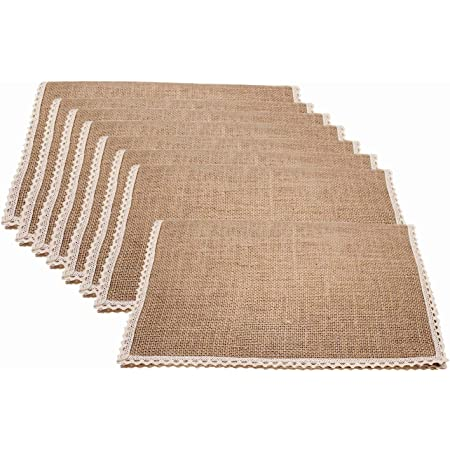 Amazon Com Fennco Styles 100 Jute Chindi Tassel Design Farmhouse Placemats 14 X 20 Inch Set Of 4 Natural Table Mats For Home Dining Room Banquets Family Gathering And Special Occasion Home Kitchen