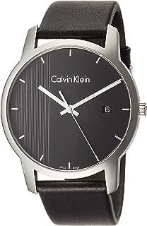 Calvin Klein Men's Quartz Watch, Analog Display and Leather Strap K2G2G1C1