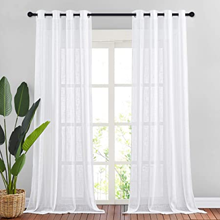 Color SAND Dining Room Kitchen Bedroom 100/% Linen Curtains PAIR 24 or 52 Wide Pure Killarney Linen Drapes Living Room