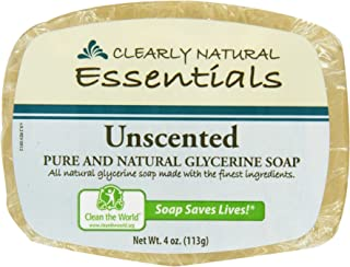 Clearly Natural: Glycerine Soap, Unscented 4 oz (4 pack)