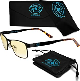 Anima Computer/Gaming Blue Light Glasses - Blue Light Blocking Glasses to Reduce Digital Eyestrain/Fatigue, Get Better Sleep, Prevent Headaches - Increased Stamina, Performance & Productivity