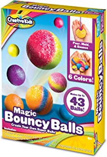 Creative Kids DIY Magic Bouncy Balls - Create Your Own Crystal Power Balls Craft Kit for Kids - Includes 25 Bags of Multic...