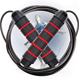Cabepow Adjustable Jump Rope with Carrying Pouch - Cardio Jumping Rope for Men, Women, and Children of All Heights and Skill Levels - for Skipping Rope, Crossfit Training, Boxing, and MMA Workouts.
