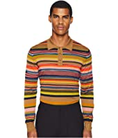 Missoni - Forever Striped Long Sleeve Polo Sweater