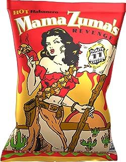 Route 11 Potato Chips : Mama Zuma's Revenge (12 bags (6 oz each)) HOT habanero jalapeno spicy chips
