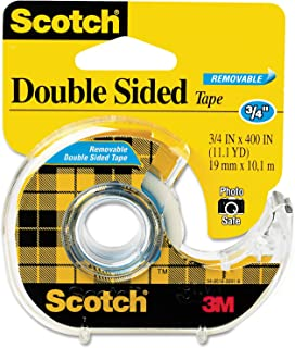 Scotch Brand Double Sided Removable Tape, Photo-Safe, Engineered for Hanging, 3/4 x 400 Inches, 1 Dispensered Roll (667)