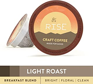 GreaterGoods Kcup Coffee Light Roast (72 Count) For Keurig K-Cup Brewers, Breakfast Blend Eco Safe Coffee Pods (Light Roast Mountain Blend)