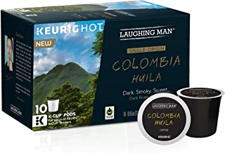 Laughing Man Colombia Huila Coffee, 0.45 Ounce (10 Count)