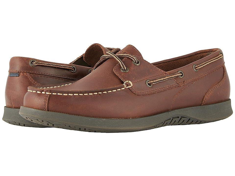 Nunn Bush Bayside Lites Two-Eye Moc Toe Boat Shoe (Dark Brown) Men