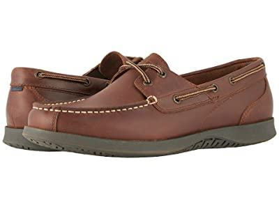 Nunn Bush Bayside Lites Two-Eye Moc Toe Boat Shoe (Dark Brown) Men