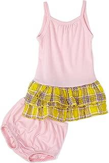Splendid Littles 褶皱格子裙,太阳/粉色