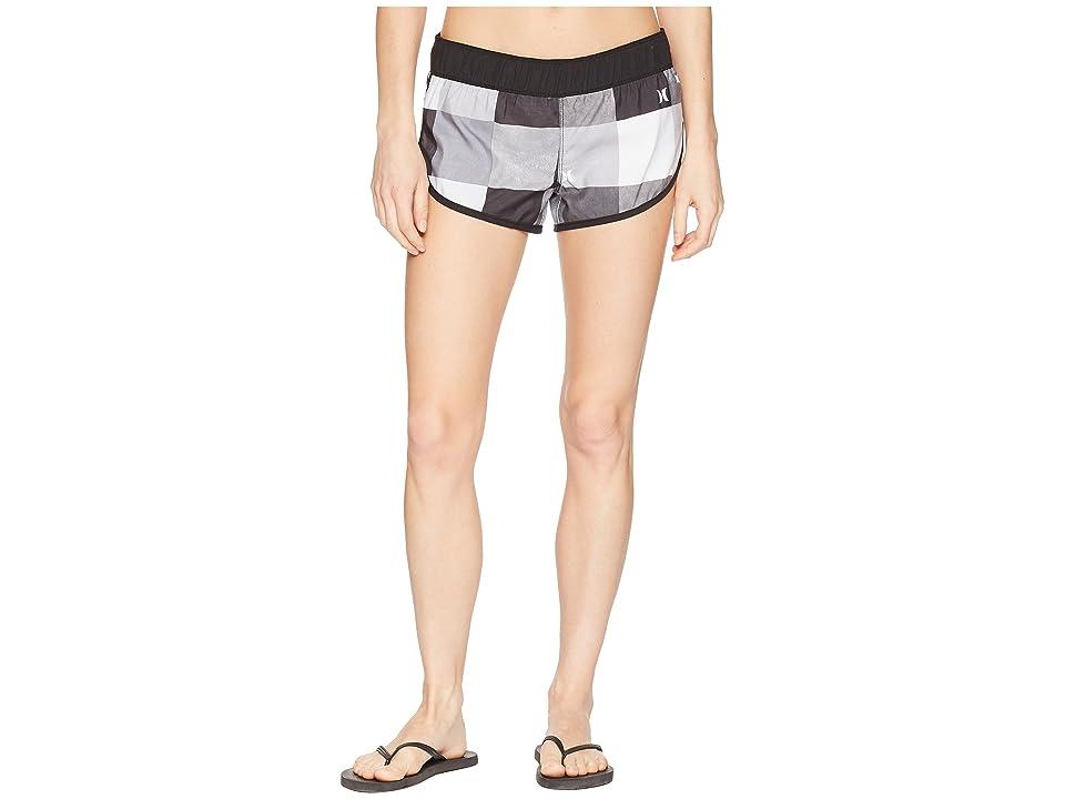 Hurley Supersuede Kingsroad Beachrider Shorts (Black/Black/White) Women