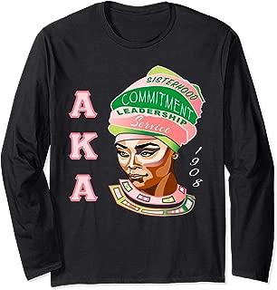 AKA Pink and Green Sista Kappa Sorority Long Sleeve T-Shirt
