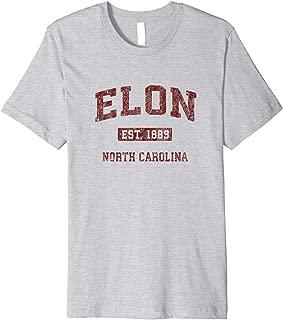 Elon North Carolina NC Vintage Athletic Sports Design Premium T-Shirt