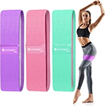 FITFORT Resistance Bands for Legs and Butt Exercise Bands - Non Slip Elastic Booty Bands, 3 Levels Workout Bands Women Spo...