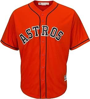 Outerstuff Houston Astros MLB Majestic Youth 8-20 Orange Alternate Blank Cool Base Team Jersey