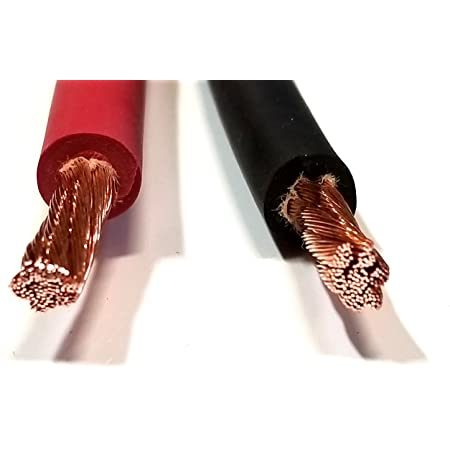 AC/DC WIRE 8 Gauge 8 AWG Welding Battery Pure Copper Flexible Cable Wire -  Car, Inverter, RV, Trucks (5 ft Black + 5 ft Red) - - Amazon.comAmazon.com