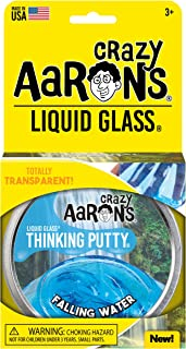 """Crazy Aaron's Transparent Thinking Putty - 4"""" Falling Water Liquid Glass Tin - 90 Grams, Never Dries Out"""