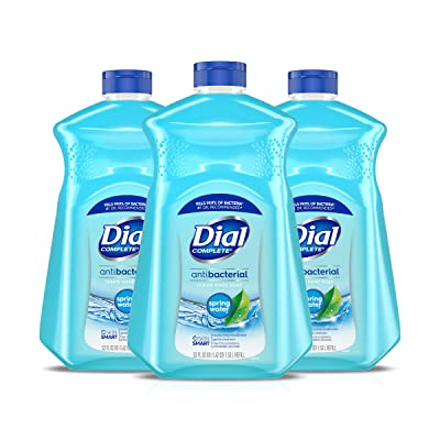 Dial Antibacterial Liquid Hand Soap Refill, Spring Water