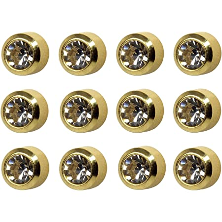 Gold Plated 4 mm April Birthstone Stud Earrings