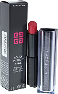 Givenchy Interdit Vinyl # 10 Rouge Provocant Lipstick for Women, 0.11 Ounce