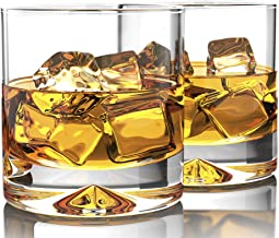 MOFADO Crystal Whiskey Glasses - Classic - 12oz (Set of 2) - Hand Blown Crystal - Thick Weighted Bottom Rocks Glasses - Pe...