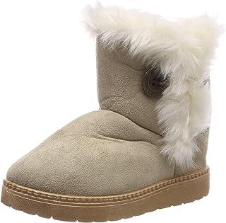 b246c65d Botas de Nieve para Niños Invierno Felpa Botines Calentar Botas de Nieve  Bebés Antideslizantes Zapatos Botas