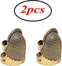 Winwinfly Thimble Finger Protector Classical Pattern Hard Metal Sewing Thimble Sewing Tools Needles Partner