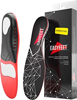 Plantar Fasciitis Arch Support Insoles for Men and Women Shoe Inserts - Orthotic Inserts - Flat Feet - Running Athletic Gel Shoe Insoles - Orthotic insoles for Arch Pain High Arch - Boot Insoles