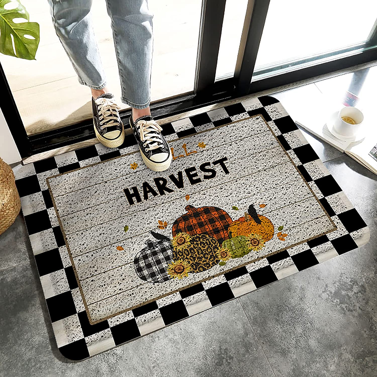 LBHAUSE Entrance Doormat Indoor New product!! Wire Ring Max 46% OFF Fall- Foot Happy Mats