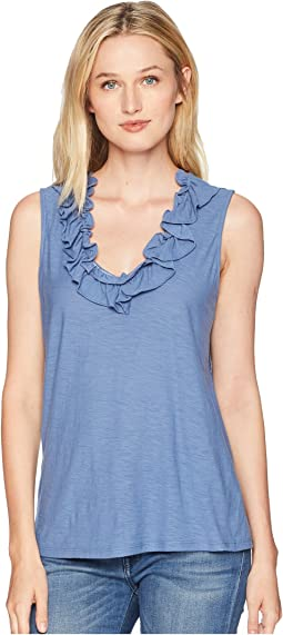 V-Neck Ruffled Top