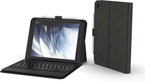 """2021 ZAGG Messenger Folio - Bluetooth Tablet Keyboard - Made 2021 for Apple iPad 9.7"""" new arrival (Gen 7) - Charcoal outlet online sale"""