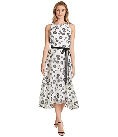 Tahari by ASL High-Low Party Dress (Black/White Floral) Women