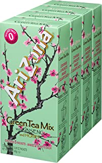 AriZona Sugar Free Green Tea with Ginseng & Honey Iced Tea Mix, 2 QT Packets (Pack of 4), Low Calorie Single Serving Drink Powder Packets, Just Add Water (Formerly Canister, Now in New Packaging)