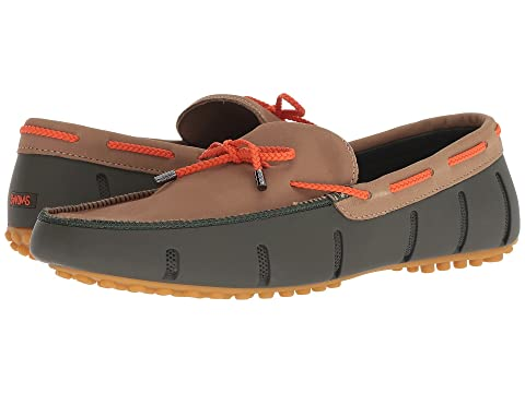 65fc90b4a73 SWIMS Braided Lace Nubuck Lux Loafer Driver at Zappos.com
