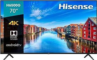 """Pantalla Hisense 70"""" 4K UHD Android TV con Control de Voz 70H6500G (2020)"""