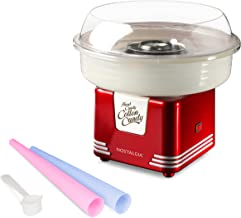 Nostalgia PCM405RETRORED Hard and Sugar Free Countertop Cotton Candy Maker, Includes 2..