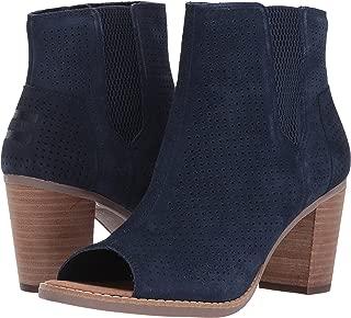 Women's Majorca Peep Toe Bootie Navy Suede Perforated Sandal