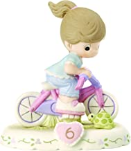 Precious Moments 152012B Growing In Grace, Age 6 Girl Bisque Porcelain Figurine Brunette