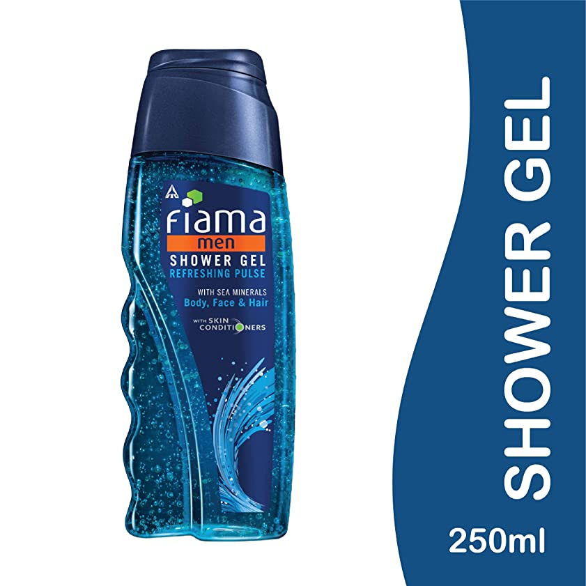 好戦的な注釈洗うFiama Men Refreshing Pulse Shower Gel, 250ml