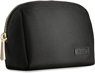 ProCase Cosmetic Bag for Purse, Compact Makeup Pouch Case Travel Accessories Organizer for Cosmetics, Skincare Set, Facial Cleanser and Beauty Stuff -Large, Black