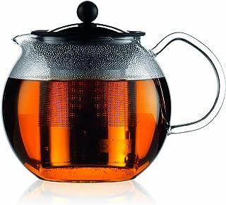 Bodum 1801-16US4 ASSAM Teapot, Glass Teapot with Stainless Steel Filter, 34 Ounce