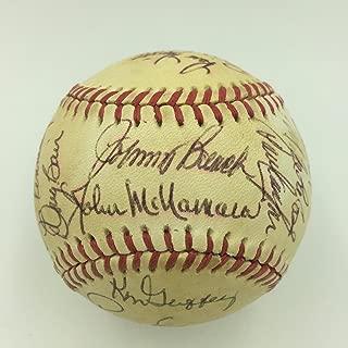 1979 Cincinnati Reds Team Signed Baseball Tom Seaver Johnny Bench Morgan JSA COA