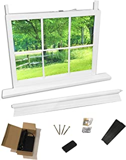 Chase Virtual Window - for Rooms That Have no Real Window. Great for basements. Turns That Small high Basement Window into a Full Size Window. for use During remodel Construction.