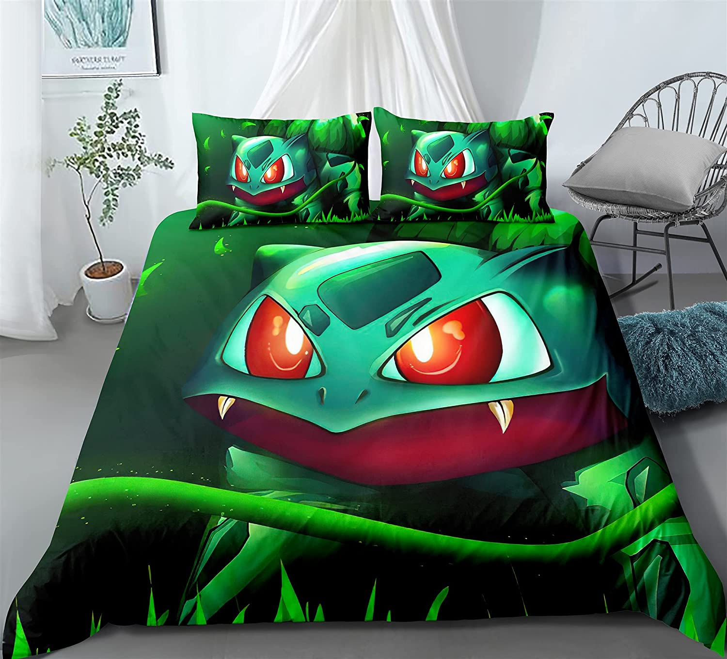 ZZYYII Venusaur Cartoon Quilt Cover Special price no and online shopping Pillowcase