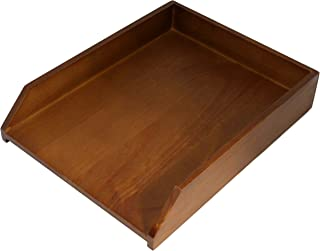 Sponsored Ad - HumanCentric Wood Letter Tray (Black Walnut) | Desk Paper Tray for Files and Documents | Inbox Tray for Office